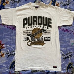Vintage 90s Purdue Basketball Graphic Tee